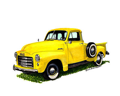 Painting - 1956 Gmc Pick Up by Jack Pumphrey