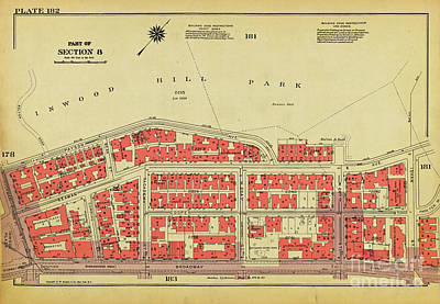 Art Print featuring the photograph 1956 Inwood Map  by Cole Thompson
