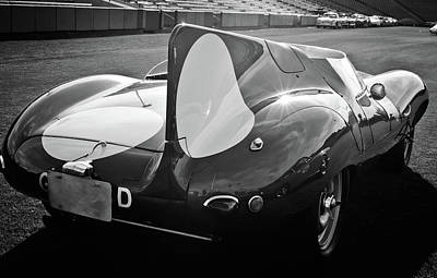Photograph - 1956 Jaguar D-type -0256bw by Jill Reger