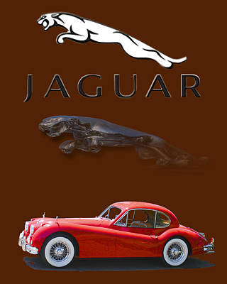 Photograph -  Jaguar X K 140 by Jack Pumphrey