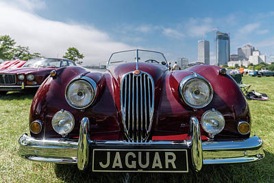 Photograph - 1956 Jaguar Xk140 Mc Open Touring Sport by Randy Scherkenbach