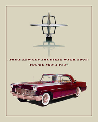 Photograph - 1956 Lincoln Continental Motivational Poster by Jack Pumphrey