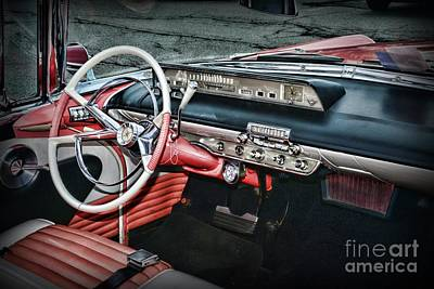 Photograph - 1956 Lincoln Continental Premiere Cockpit by Paul Ward