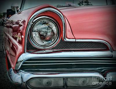 Photograph - 1956 Lincoln Continental Premiere Headlight  by Paul Ward
