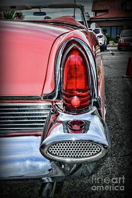 Photograph - 1956 Lincoln Continental Premiere Tail Light by Paul Ward