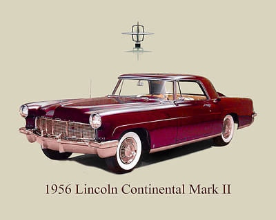 Photograph - 1956 Lincoln M K  I I by Jack Pumphrey