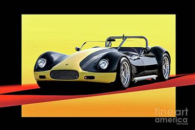 Sports Royalty-Free and Rights-Managed Images - 1956 Lister Chevrolet Roadster by Dave Koontz