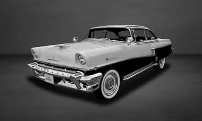 Photograph - 1956 Mercury Montclair 2-door Hardtop  -  56mercbw55 by Frank J Benz