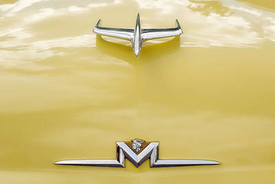 Photograph - 1956 Mercury Montclair 2-door Hardtop Hood Ornaments   -   56merchdorn11 by Frank J Benz