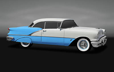 Photograph - 1956 Oldsmobile 88 Two Door Hardtop  -  195688olds2doorgry170806 by Frank J Benz