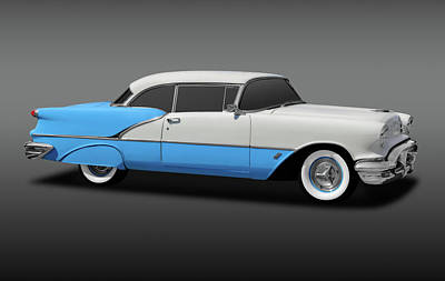 Photograph - 1956 Oldsmobile 88 Two Door Hardtop  -  56olds2door88hdtpfa170806 by Frank J Benz