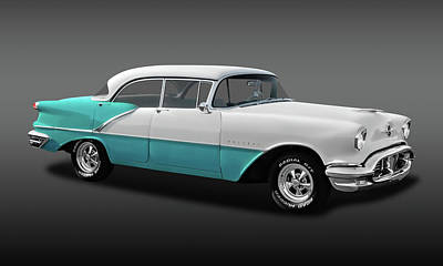 Photograph - 1956 Oldsmobile Holiday 88 4 Door Hardtop Sedan  -  1956olds88hdtopfa0015 by Frank J Benz