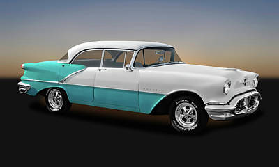 Photograph - 1956 Oldsmobile Holiday 88 4 Door Hardtop Sedan  -  1956olds88holid0015 by Frank J Benz