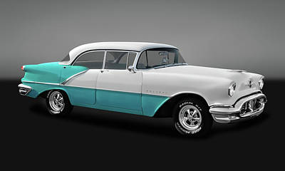 Photograph - 1956 Oldsmobile Holiday 88 4 Door Hardtop Sedan  -  56oldshdtpgry0015 by Frank J Benz