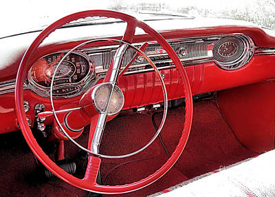 Photograph - 1956 Oldsmobile Interior by Janice Drew