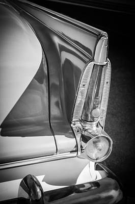 Photograph - 1956 Plymouth Tail Light -ck0233bw by Jill Reger