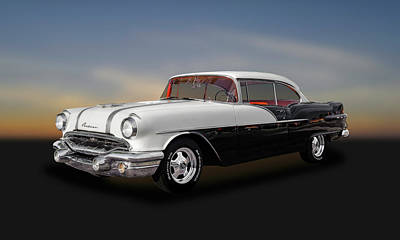 Photograph - 1956 Pontiac Chieftain 2-door Hardtop  -  55pont001 by Frank J Benz