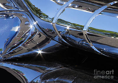 Photograph - 1956 Pontiac Chieftain Grill Abstract by Rick Bures
