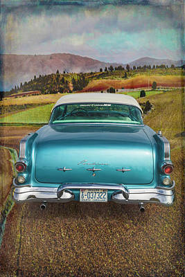 Photograph - 1956 Pontiac Drive In The Country by Debra and Dave Vanderlaan