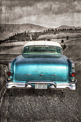 Photograph - 1956 Pontiac Drive In The Country Selected Color by Debra and Dave Vanderlaan