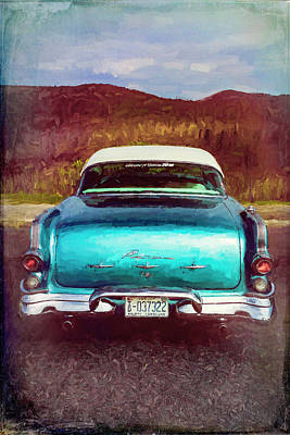 Photograph - 1956 Pontiac In Watercolors by Debra and Dave Vanderlaan