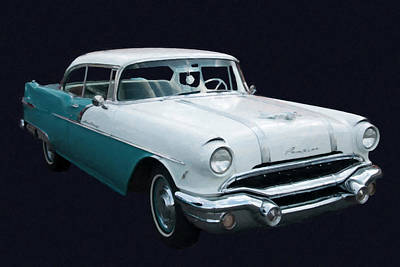 1956 Pontiac Star Chief Digital Oil Art Print