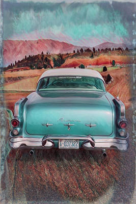 Photograph - 1956 Pontiac Watercolor Painting by Debra and Dave Vanderlaan