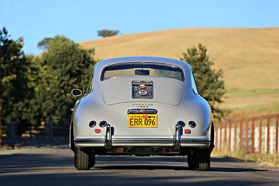 Photograph - 1956 Porsche 356a Rear by Steve Natale