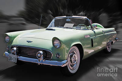 Photograph - 1956 Thunderbird Convertible by Gene Healy
