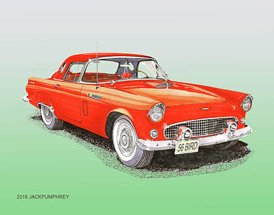 Painting - 1956 Thunderbird  by Jack Pumphrey