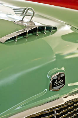Photograph - 1957 Austin Cambrian 4 Door Saloon Hood Ornament And Emblem by Jill Reger