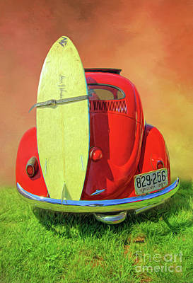 Photograph - 1957 Beetle Oval by Marion Johnson