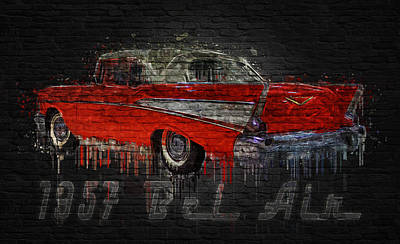 Photograph - 1957 Bel Air by Ray Van Gundy