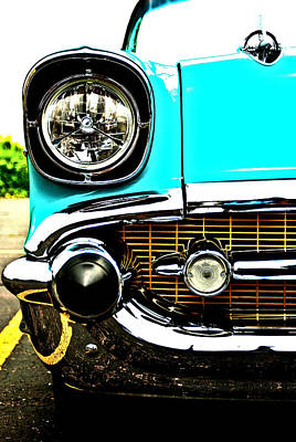 Photograph - 1957 Bel Air Headlight And Grille by  Onyonet  Photo Studios