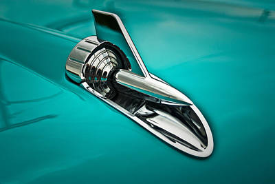 Photograph - 1957 Bel Air Hood Ornament by  Onyonet  Photo Studios