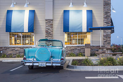 Photograph - 1957 Belair At The Diner by Dennis Hedberg
