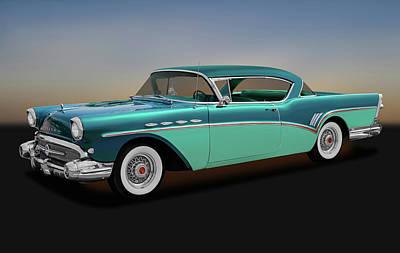 Photograph - 1957 Buick Super Riviera 2 Door Hardtop  -  1957buicksuperriviera170431 by Frank J Benz
