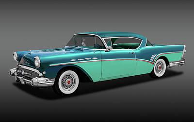 Photograph - 1957 Buick Super Riviera 2 Door Hardtop  -  1957buicksuprivierafa170431 by Frank J Benz