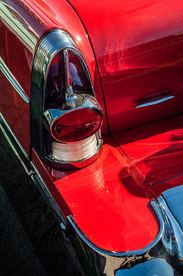 American Cars Photograph - 1957 Buick Tail Light -0159c by Jill Reger