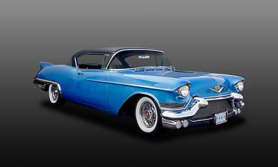 Photograph - 1957 Cadillac Eldorado Coupe  -  57cadel670 by Frank J Benz