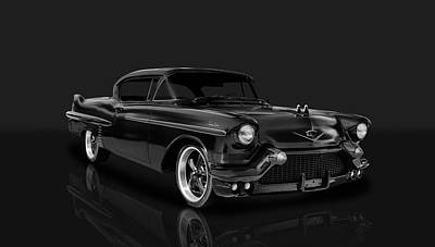 Photograph - 1957 Cadillac Series 62 2-door Coupe  -  57cad11 by Frank J Benz
