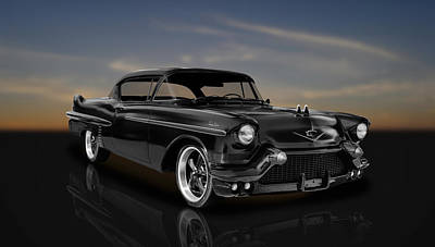 Photograph - 1957 Cadillac Series 62 2-door Coupe  -  57cad22 by Frank J Benz