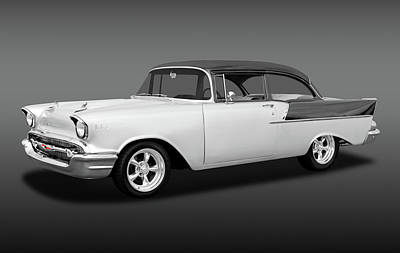 Photograph - 1957 Chevrolet 150 Series Two Door Post Sedan  -  1957chevy2dr150sedfa170866 by Frank J Benz