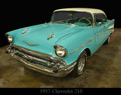 Photograph - 1957 Chevrolet 210 by Chris Flees