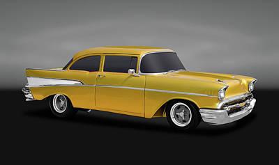 Photograph - 1957 Chevrolet 210 Delray  -  1957chev210delraygry170425 by Frank J Benz