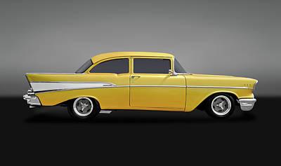 Photograph - 1957 Chevrolet 210 Delray  -  1957chevydelray210gry170438 by Frank J Benz