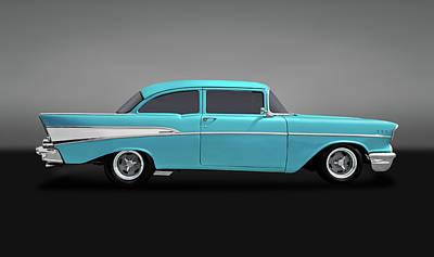 Photograph - 1957 Chevrolet 210 Delray  -  57210chevdelrayblgry170438 by Frank J Benz