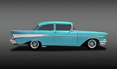 Photograph - 1957 Chevrolet 210 Delray  -  57chevdelrayblfa170438 by Frank J Benz
