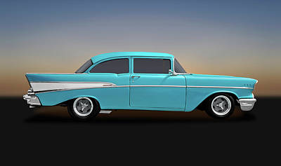 Photograph - 1957 Chevrolet 210 Delray  -  57chevydelraybl170438 by Frank J Benz