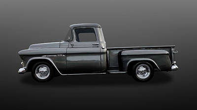 Photograph - 1957 Chevrolet 3100 Stepside Truck  -  57chtrkfnat65 by Frank J Benz